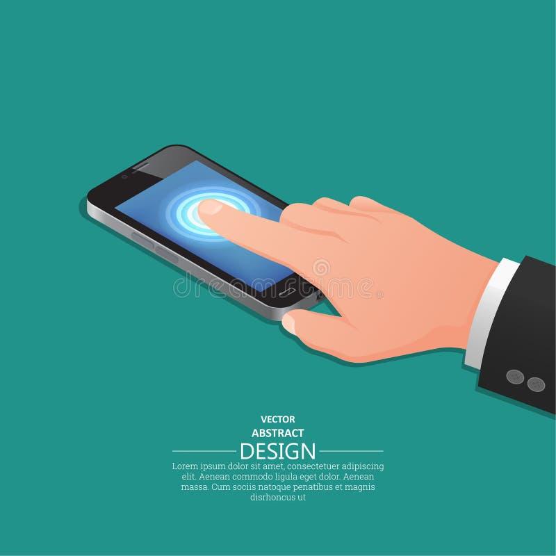 Telefono cellulare simile al iPhone illustrazione vettoriale
