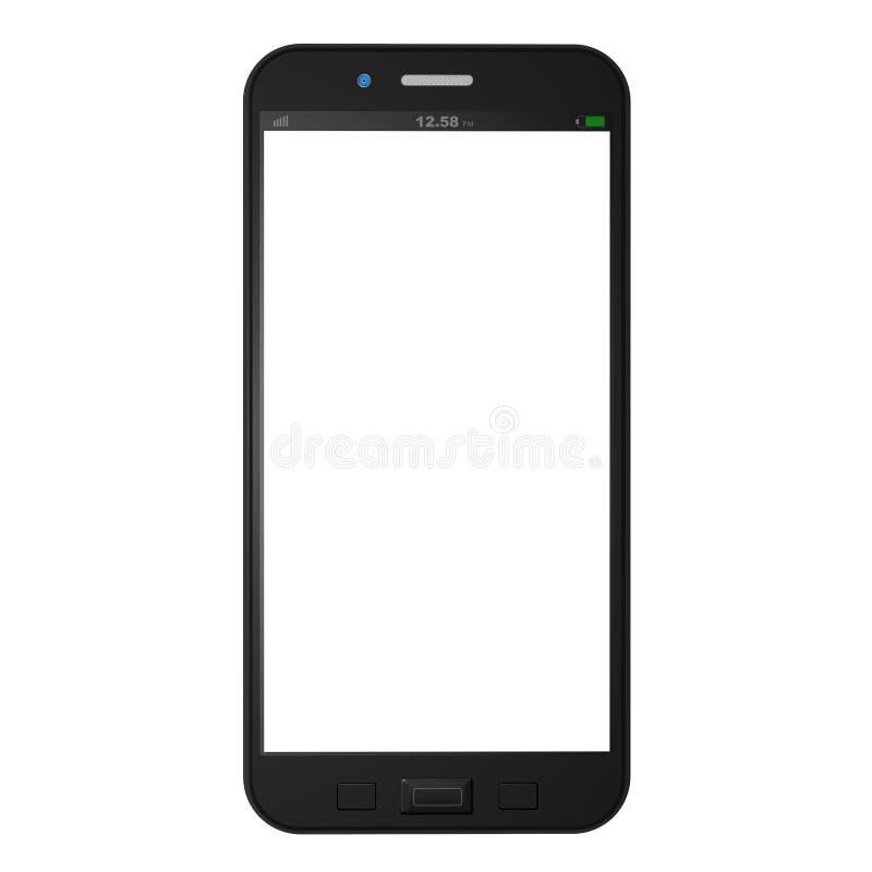 Telefono cellulare su fondo bianco, illustrazione del telefono cellulare fotografia stock