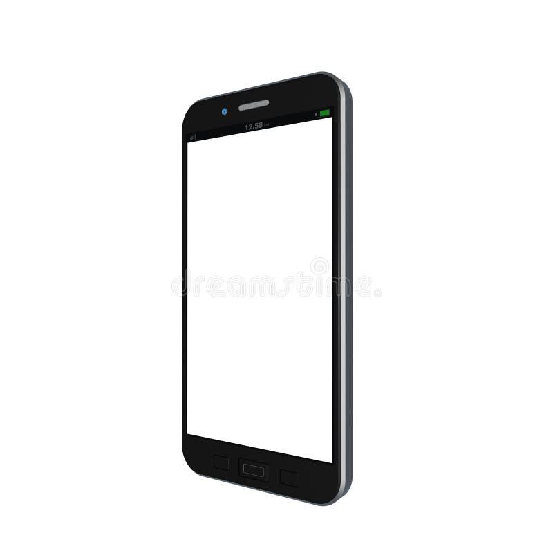 Telefono cellulare su fondo bianco, illustrazione del telefono cellulare immagini stock