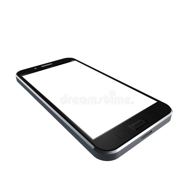 Telefono cellulare su fondo bianco, illustrazione del telefono cellulare fotografie stock libere da diritti