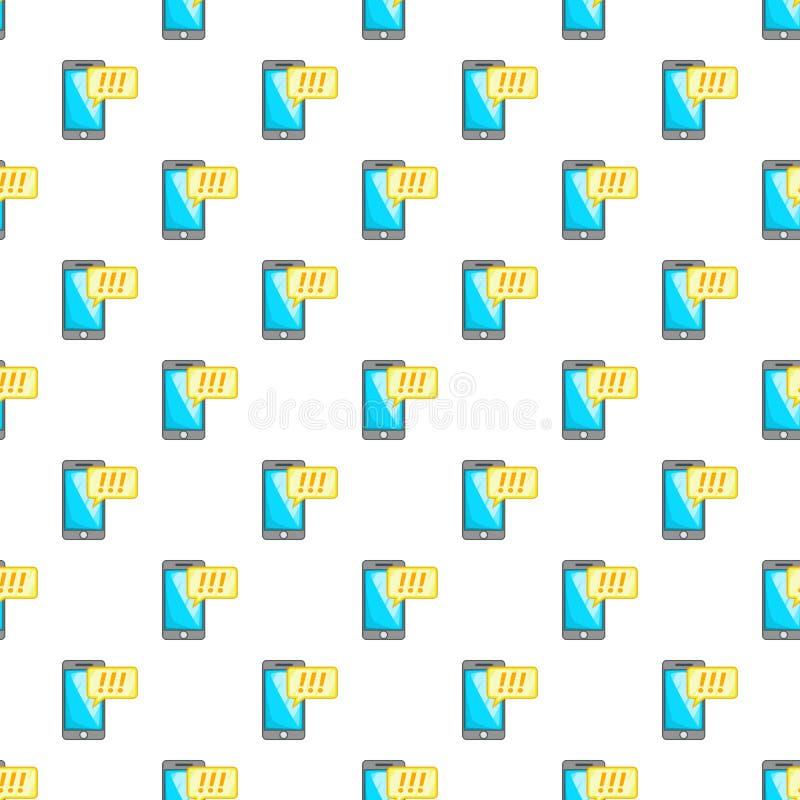 Telefono con il modello del fumetto di esclamazione illustrazione di stock