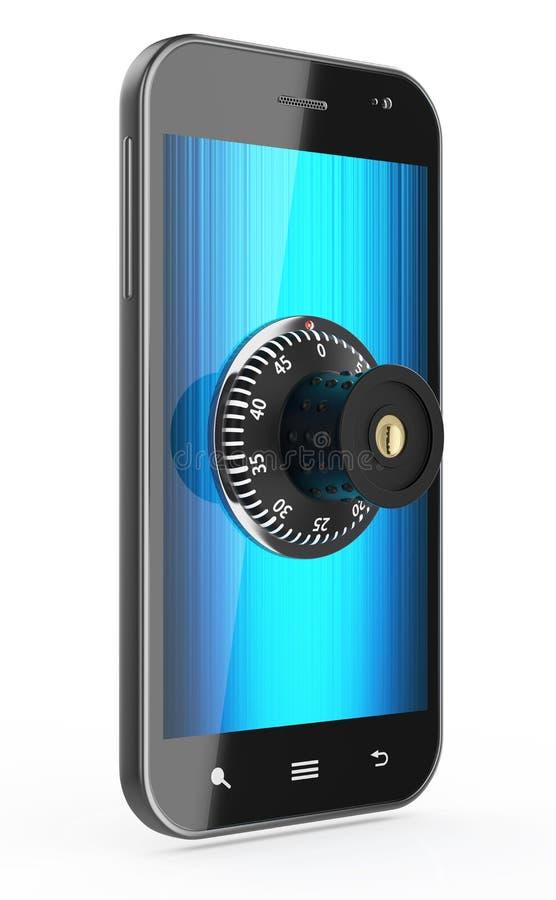 Telefono con la serratura di combinazione royalty illustrazione gratis