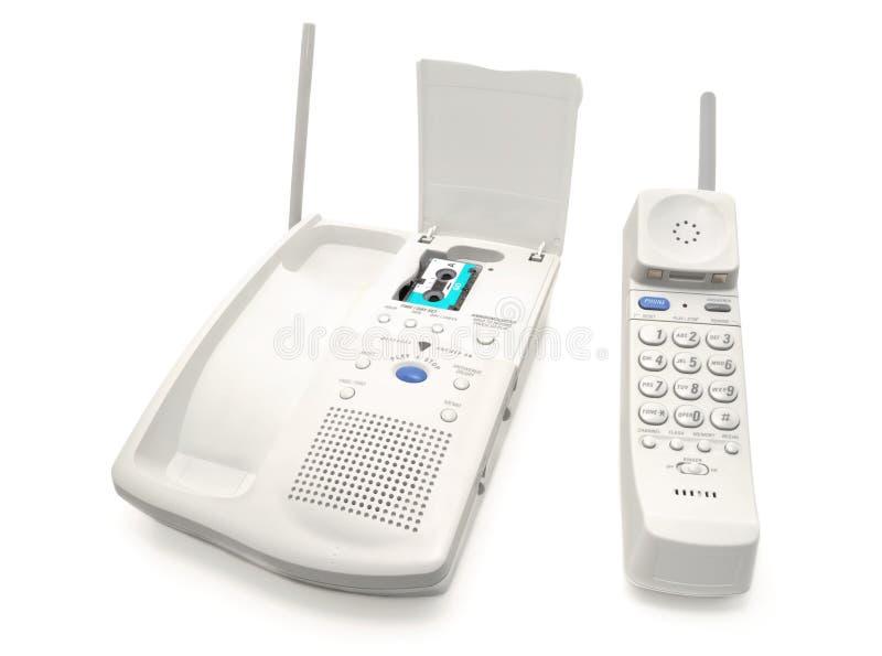 Telefono con una macchina di risposta fotografia stock