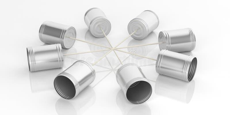 telefono dei barattoli di latta della rappresentazione 3d royalty illustrazione gratis