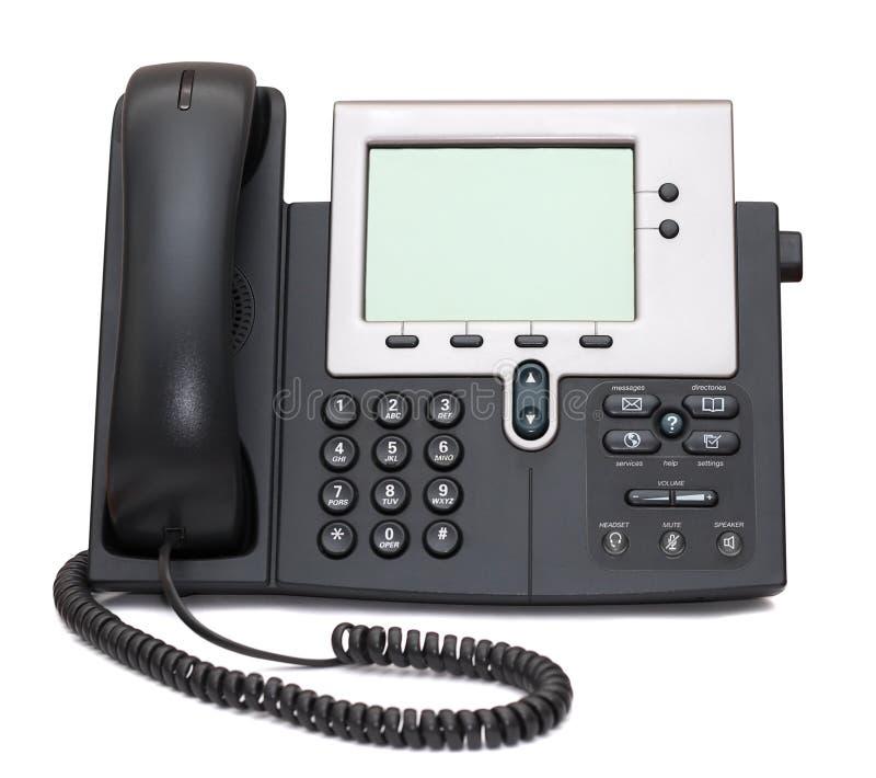 Telefono del IP isolato su bianco immagine stock libera da diritti