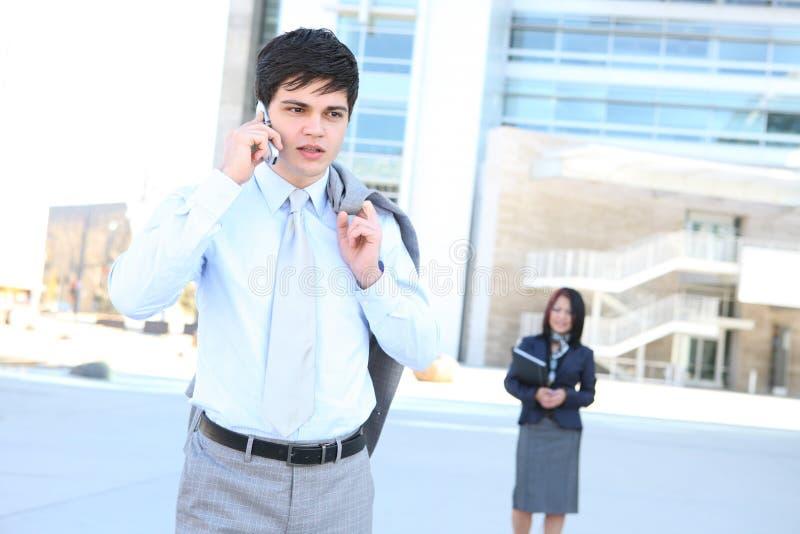 telefono dell'uomo di affari immagini stock libere da diritti
