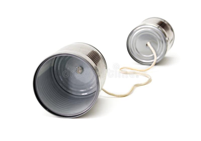 Telefono della latta dei bambini fotografia stock libera da diritti