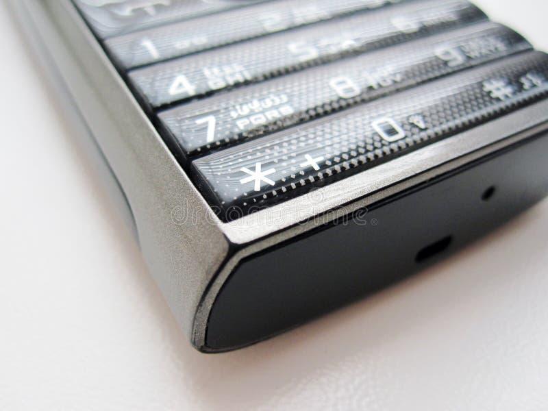 Telefono della tastiera su un fondo bianco fotografia stock