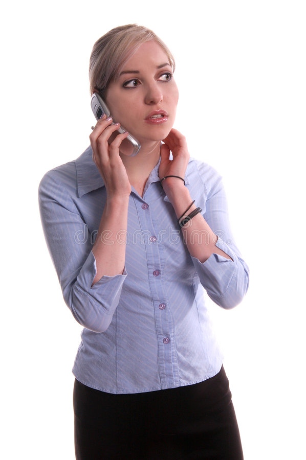 Telefono delle cellule di affari fotografie stock