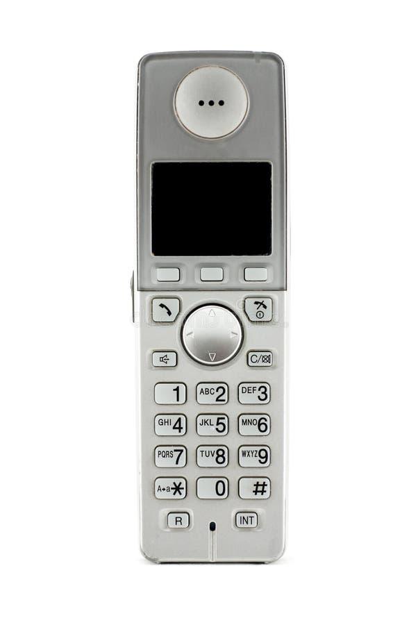 Telefono di Digitahi VoIP, isolato su priorità bassa bianca fotografia stock