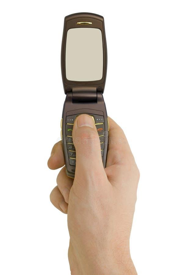 Telefono di vibrazione disponibile fotografia stock libera da diritti