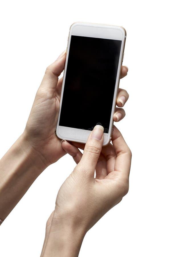 Telefono a disposizione immagine stock