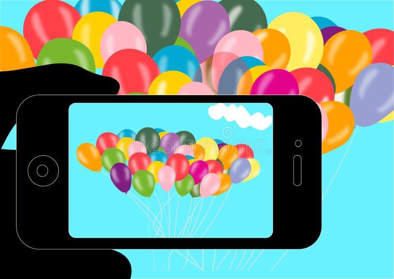 Telefono e foto immagini stock libere da diritti