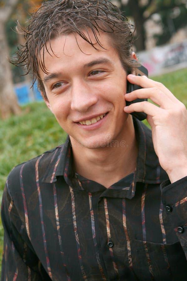 telefono felice fotografie stock libere da diritti