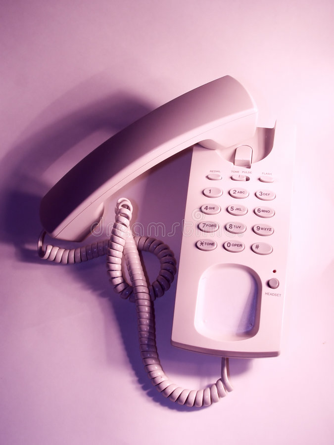 Telefono fuori dall'amo immagine stock