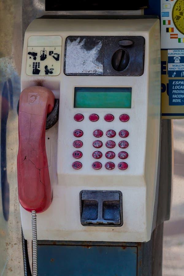 Telefono a gettone in Spagna immagine stock libera da diritti