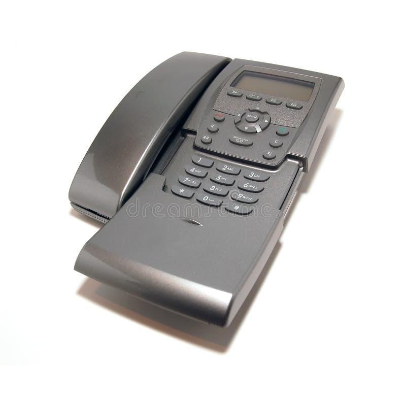 Telefono grigio dell'ufficio immagini stock