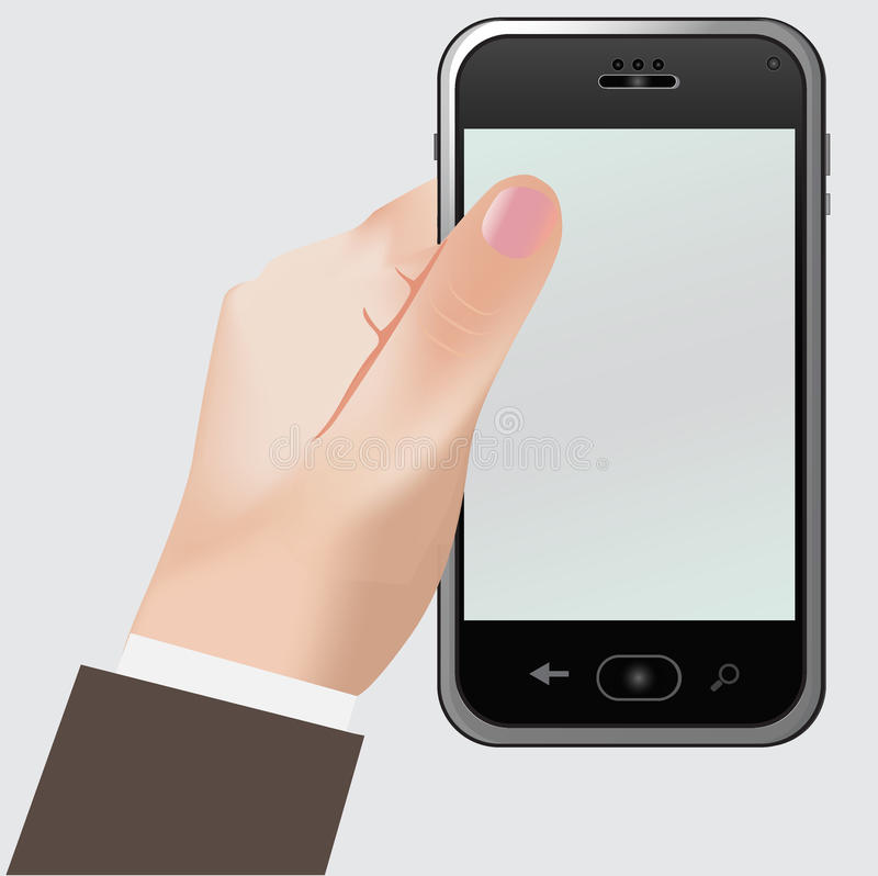 Telefono, mano illustrazione vettoriale