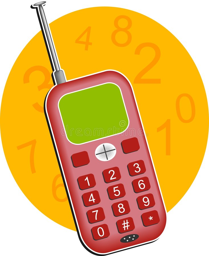 Telefono mobile illustrazione di stock