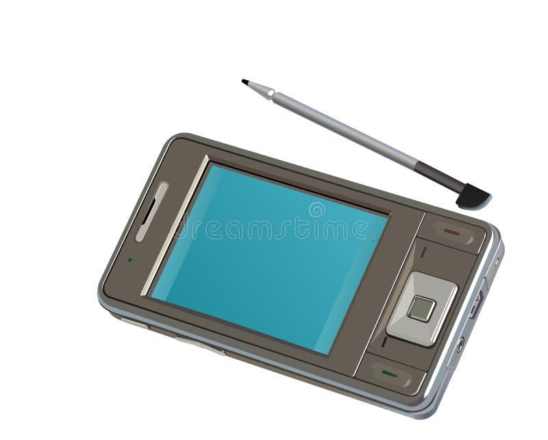 Telefono mobile alta tecnologia di PDA illustrazione di stock