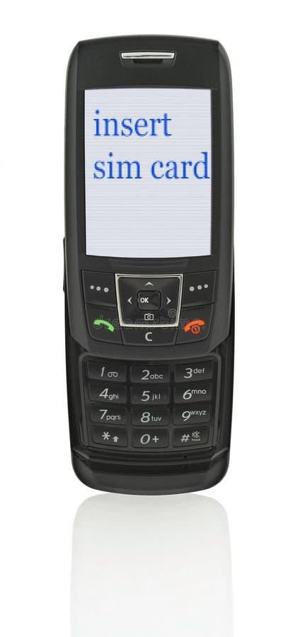 Telefono mobile con il messaggio fotografia stock libera da diritti