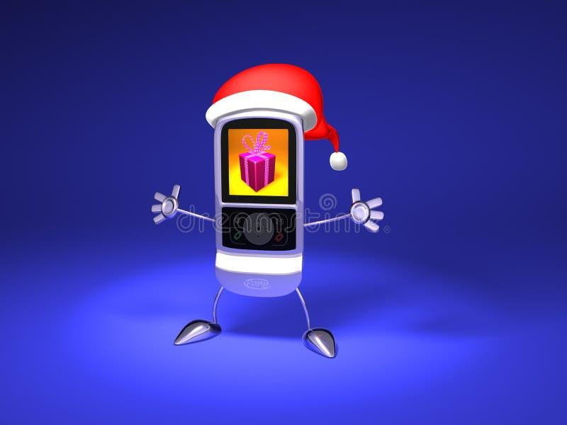 Telefono mobile del Babbo Natale illustrazione vettoriale