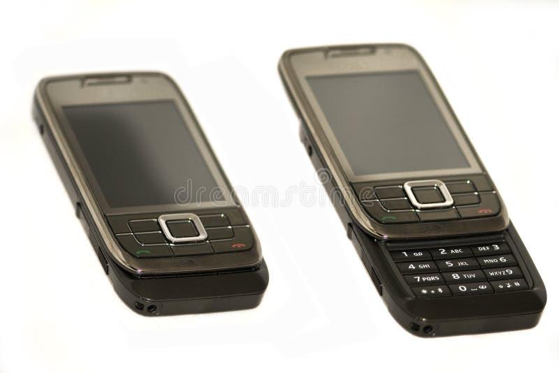 Telefono mobile della trasparenza isolato fotografia stock libera da diritti