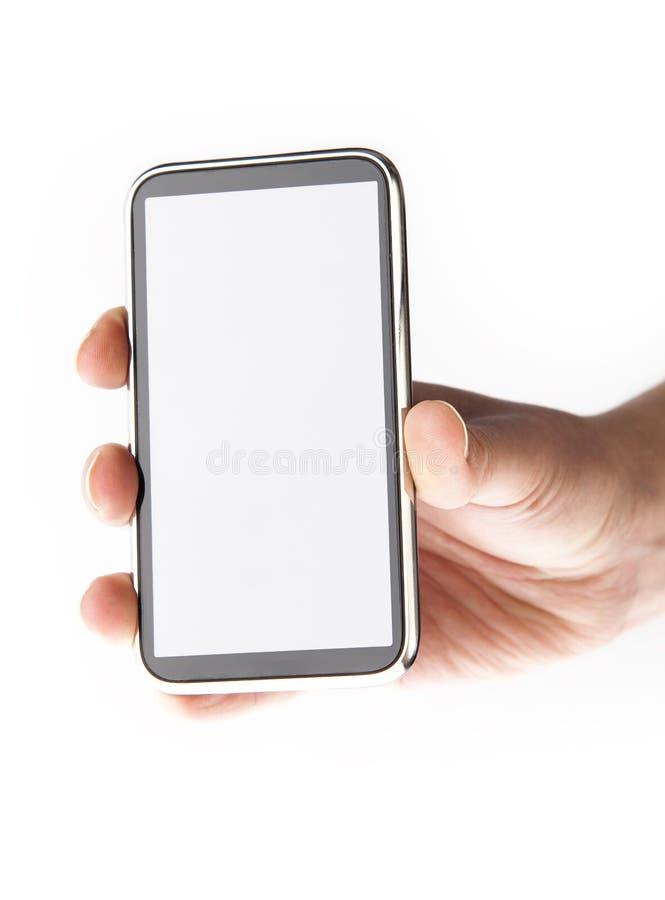 Telefono mobile nelle mani immagini stock libere da diritti