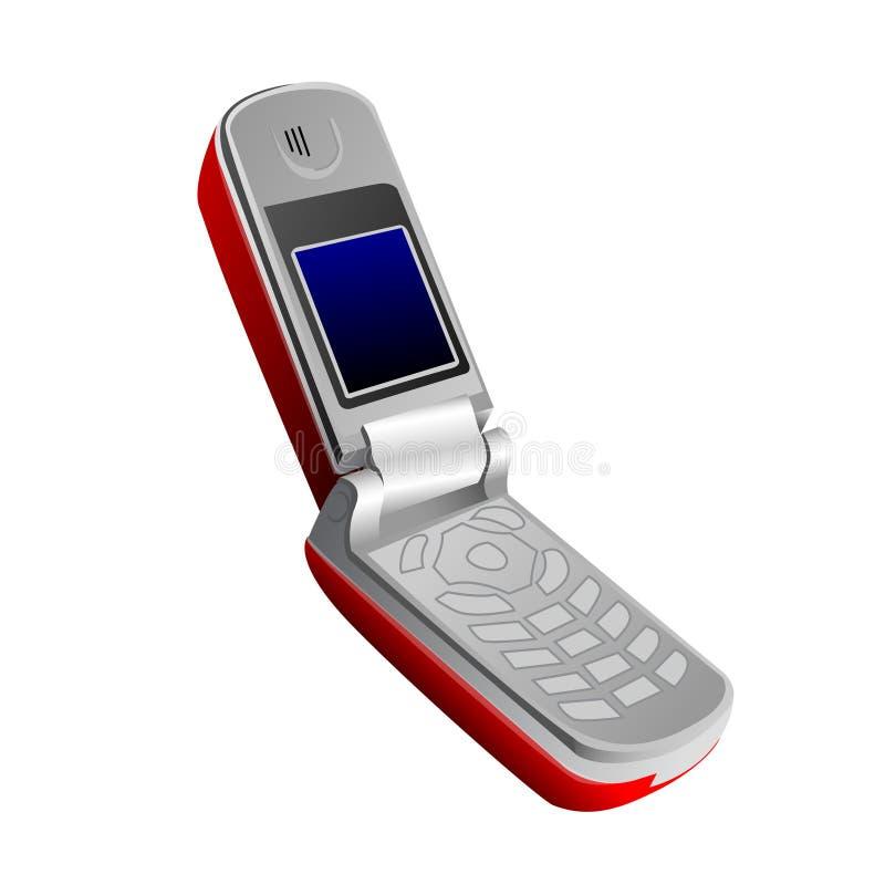 Telefono mobile piegante illustrazione vettoriale