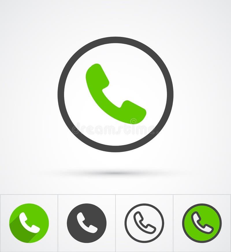 Telefono nell'icona di chiamata del cerchio Vettore illustrazione di stock