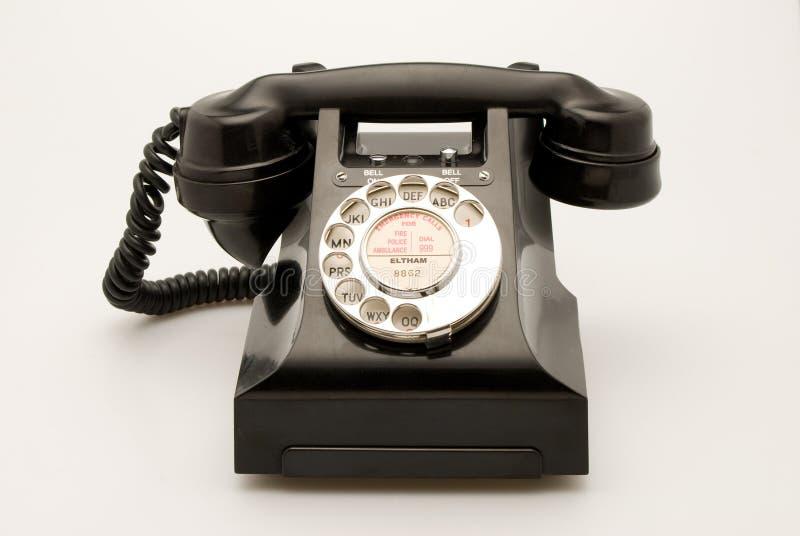 Telefono nero immagine stock libera da diritti