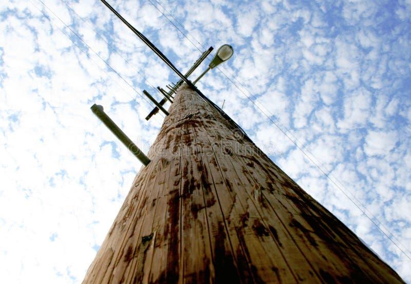Telefono palo dell'indicatore luminoso di via fotografia stock