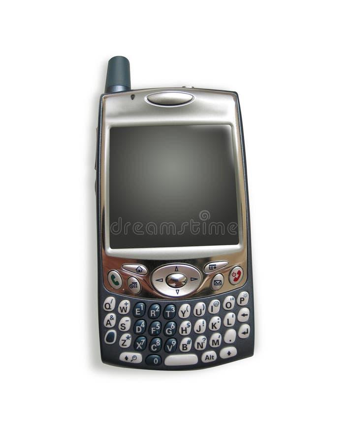 Telefono/PDA delle cellule con i percorsi di residuo della potatura meccanica fotografia stock