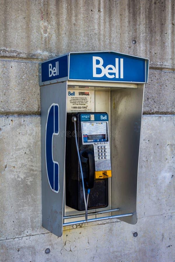 Telefono pubblico di Bell fotografia stock libera da diritti
