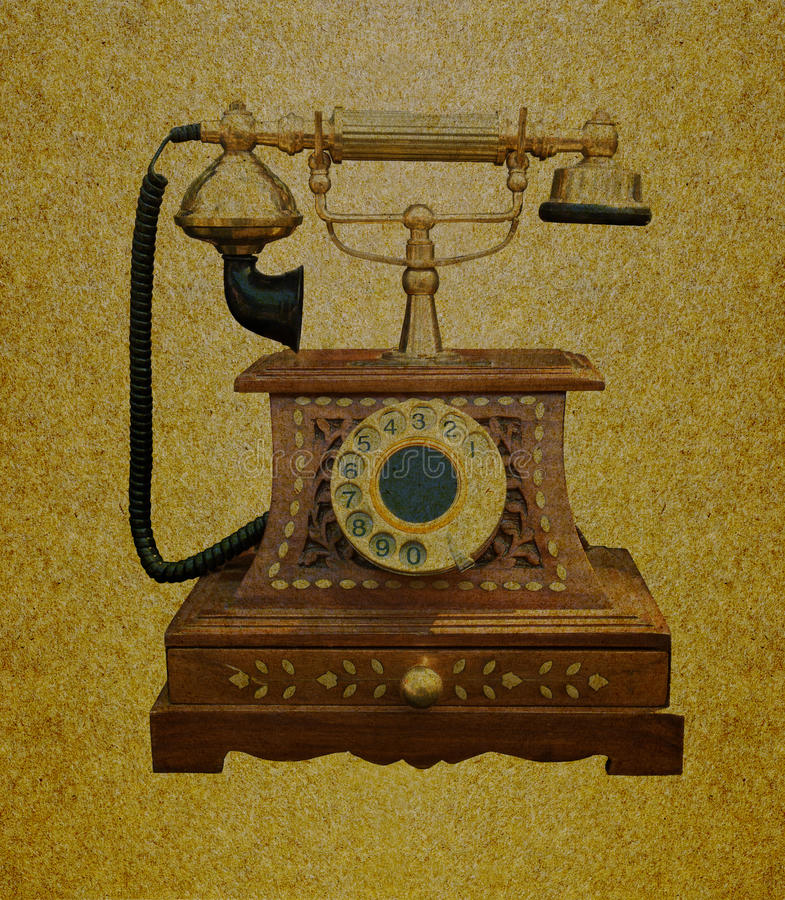 Telefono retro immagine stock
