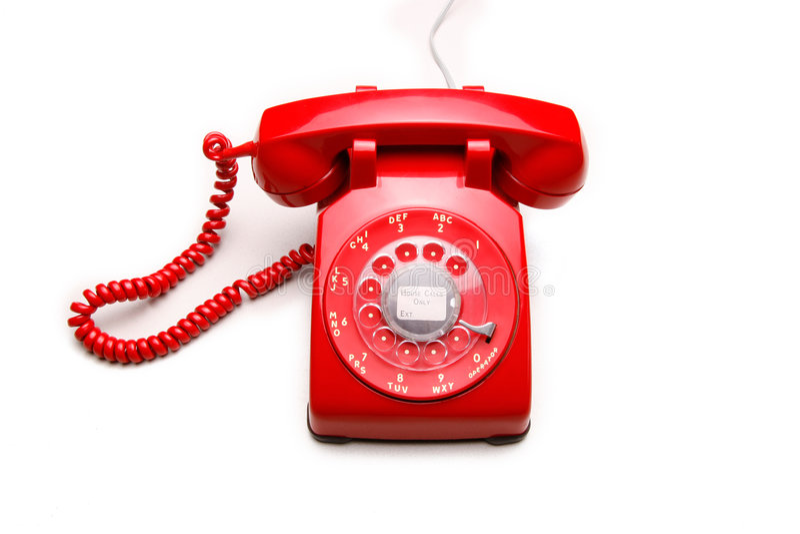 Telefono rosso 3 dell'annata fotografia stock libera da diritti