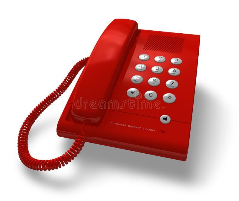 Telefono rosso dell'ufficio illustrazione vettoriale