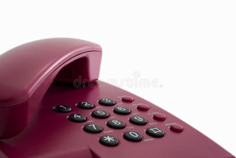 Telefono rosso dell'ufficio immagini stock libere da diritti