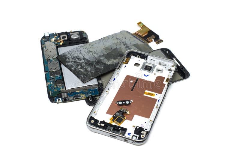 Telefono rotto immagini stock