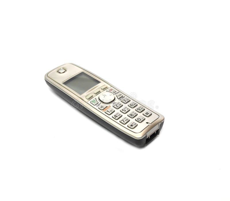 Telefono senza cordone isolato su un fondo bianco fotografie stock libere da diritti