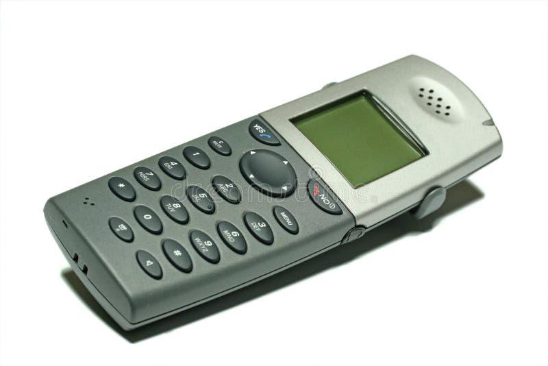 Telefono senza cordone su bianco immagine stock