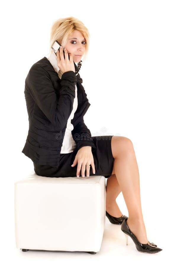 telefonowanie biznesowa kobieta fotografia stock