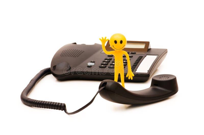 Telefonservicebegrepp royaltyfri bild