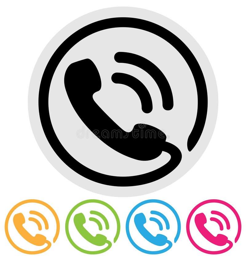 Telefonsymbol royaltyfri illustrationer