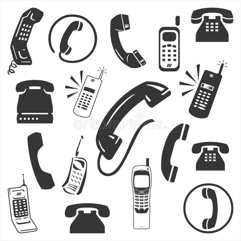 Telefonsymbol royaltyfri illustrationer