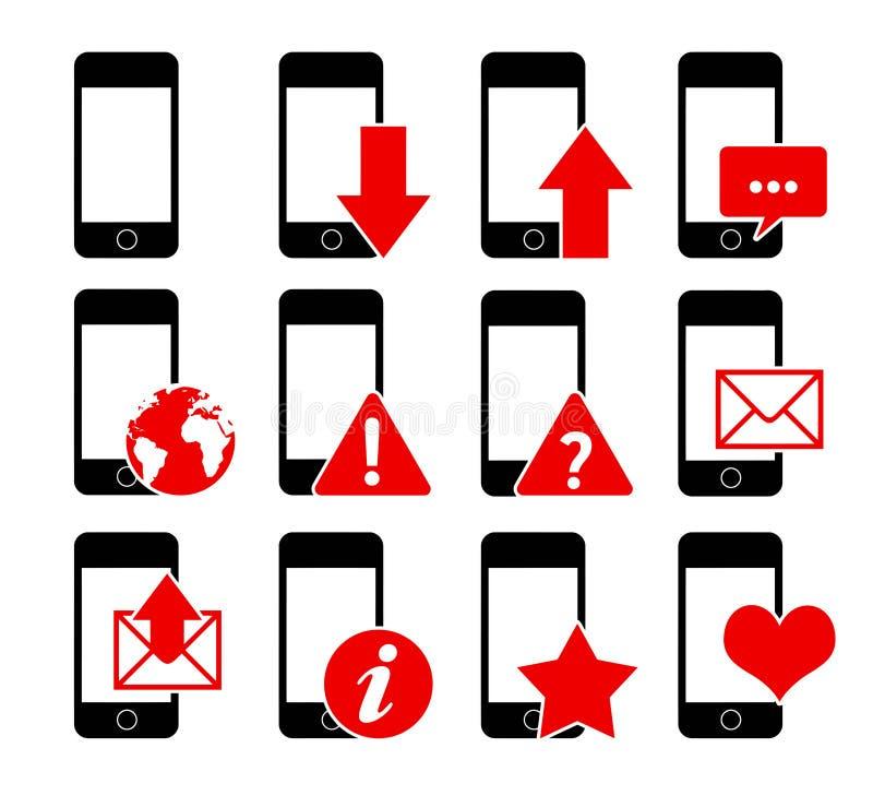 Telefonsymboler 1 stock illustrationer