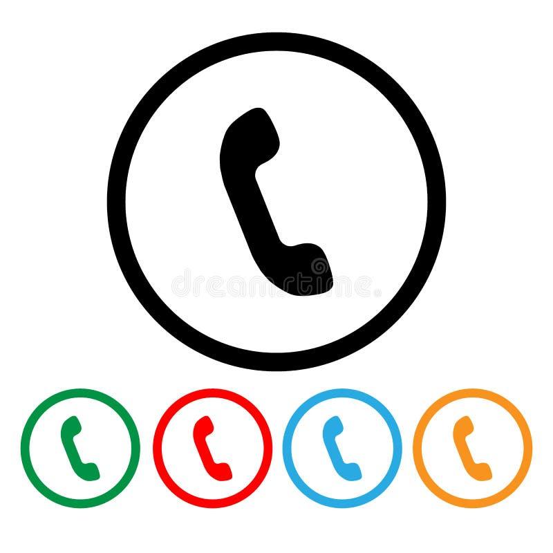 Telefonsymboler rullad white för bakgrundssymbolstraktor rengöringsduk också vektor för coreldrawillustration royaltyfri illustrationer