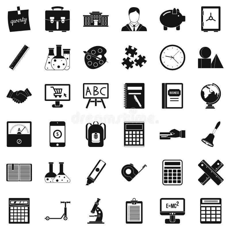 Telefonsymbolsuppsättning, enkel stil royaltyfri illustrationer
