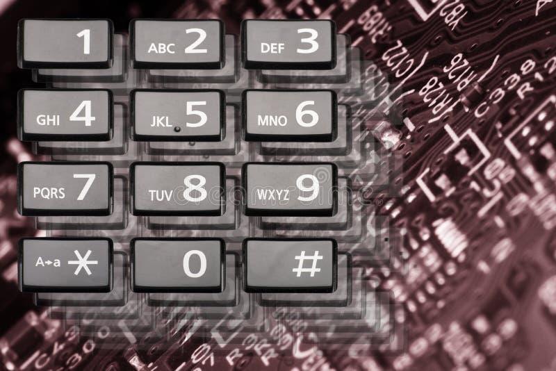 Telefontangentbord med rektangulära knappar tätt upp arkivfoton