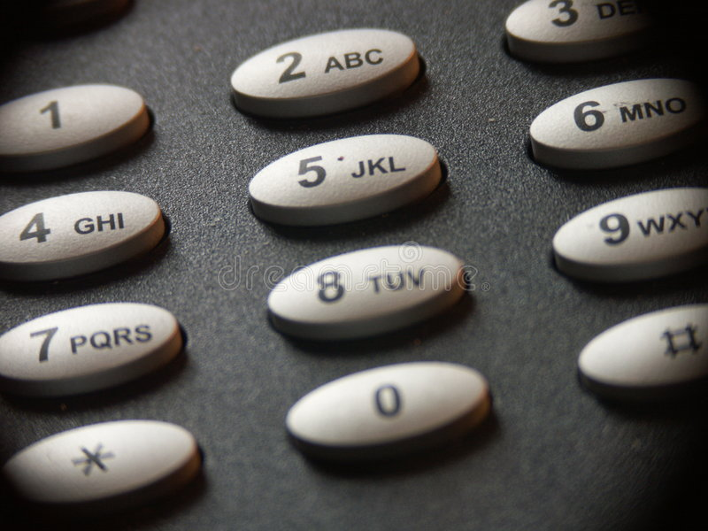 Telefontastaturblock stockfoto